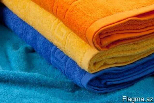 Оптом махровые готовые полотенца разных размеров тонов