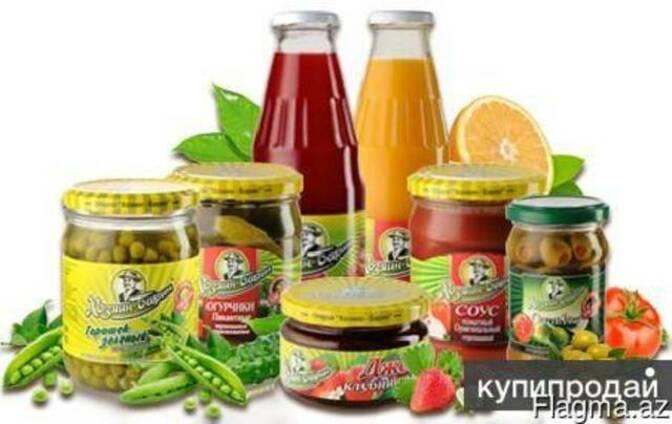 Соки и нектары, полуфабрикаты, овощная консервация