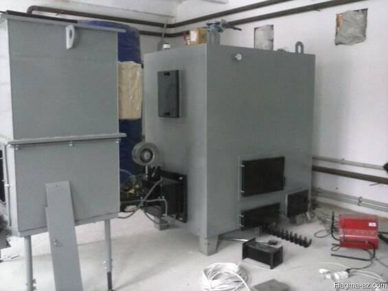 Автоматический котел отопительный на твердом топливе