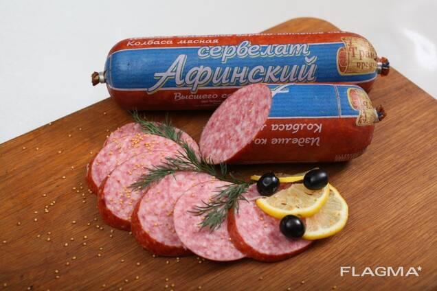 Колбасные изделия полукопченые и варено - копченые