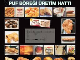 Puf böreği üretim hattı