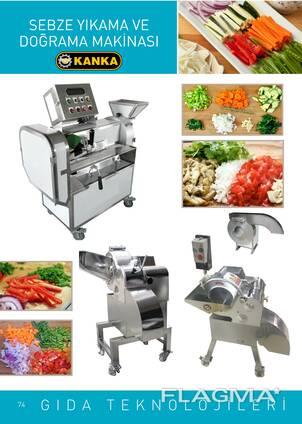 Sebze yıkama ve doğrama makinası