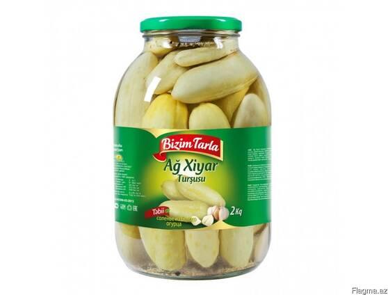 """Соленья из белых огурцов """"Bizim tarla """" 2 кг"""