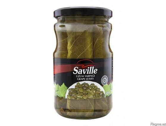 """Соленья из виноградных листьев """"Saville"""" 680 гр"""